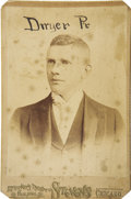 Baseball Collectibles:Photos, Circa 1890 Frank Dwyer (Chicago PL) Cabinet Photograph. Acquired byour consignor as part of an ensemble of outrageously sc...