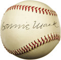 Autographs:Baseballs, Circa 1950 Connie Mack Signed Baseball. One of the most pristinesignatures on a baseball you'll ever encounter from the gr...