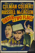"""Movie Posters:Adventure, Under Two Flags (20th Century Fox, R-1943). One Sheet (27"""" X 41"""").Adventure...."""