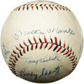 Autographs:Baseballs, 1959 New York Yankees Team Signed Baseball. High-grade Yankee teamball was the pride and joy of a ten-year old fan of the ...