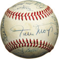 Autographs:Baseballs, 1973 New York Mets Team Signed Baseball. Following that odd trendof baseball symmetry that has brought legends like Babe R...