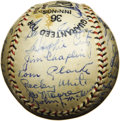 Autographs:Baseballs, 1932 New York Giants Team Signed Baseball with Ott, McGraw.Essentially the same ballclub that would defeat the Washington ...