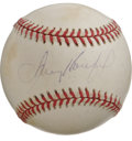 Autographs:Baseballs, Sandy Koufax Single Signed Baseball. One of the most appreciatedhurlers in the history of the game is the dominant lefty S...