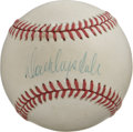 Autographs:Baseballs, Don Drysdale Single Signed Baseball. Hall of Fame brushback ace DonDrysdale provides a perfect sweet spot signature here t...
