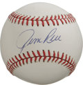 Autographs:Baseballs, Jim Rice Single Signed Baseball. Filling in at left field for theBoston Red Sox is no small task, especially considering t...