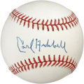 Autographs:Baseballs, Carl Hubbell Single Signed Baseball. Splendid perfect 10 example ofthe Hall of Fame lefty ace Carl Hubbell's sweet spot si...