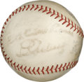 Autographs:Baseballs, 1934-39 Lou Gehrig Signed Baseball. On a ball that was issued during the tail end of Lou Gehrig's illustrious career, this ...