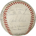 Autographs:Baseballs, 1966 Cleveland Indians Team Signed Baseball. A whopping 26signatures from the members of the 1966 Cleveland Indians appear...
