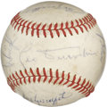 Autographs:Baseballs, 1971 Chicago Cubs Team Signed Baseball. Here we present anexcellent tea signed ball laden with Hall of Fame signatures. T...
