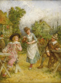 Fine Art - Painting, European:Antique  (Pre 1900), ALFRED HOLST TOURIER (British 1836-1892). Merry Company (TheRivals). Oil on canvas. 16 x 12 inches (40.6 x 30.5 cm). Si...