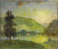 Fine Art - Painting, European:Antique  (Pre 1900), CONTINENTAL SCHOOL. Landscape With Hill. Oil on canvas. 20 x 24 inches (50.8 x 61 cm). Signed lower left (indecipherabl...