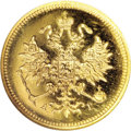 Russia: , Russia: Alexander III. Proof Gold 3 Roubles 1885 CПБ-AГ, Crowned Imperial eagle/Date and value in circle, Bit-14 (R), F-166, Proof 6...