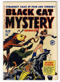 Golden Age (1938-1955):Horror, Black Cat Mystery #30 (Harvey, 1951) Condition: FN....
