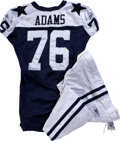 Football Collectibles:Uniforms, 2006 Flozell Adams Game Worn Jersey with Pants. Reebok navy blue mesh throwback gamer with navy blue stars on the shoulders...