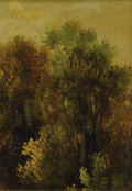 Paintings, AMERICAN SCHOOL (Nineteenth Century). Landscape. Oil on canvas laid on board. 7 x 5 inches (17.8 x 12.7 cm). A small, ...