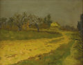 Fine Art - Painting, American:Modern  (1900 1949)  , CHARLES PAUL GRUPPE (American 1860-1940). Autumn Landscape.Oil on board. 11 x 14 inches (23.5 x 30 cm). Signed at lower...