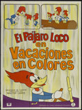 "Movie Posters:Animated, Woody Woodpecker Stock (Universal, 1950s). Argentinean Poster (29""X 43""). Animated...."