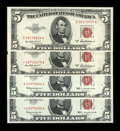 Small Size:Legal Tender Notes, Four Later Series $5 Legal Tender Notes. Choice Crisp Uncirculated or Better.. ... (Total: 4 notes)