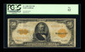 Large Size:Gold Certificates, Fr. 1200 $50 1922 Gold Certificate PCGS Fine 12....