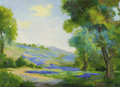 Fine Art - Painting, American:Contemporary   (1950 to present)  , ANNE CLAIRE RANDALL (American, Early 20th Century). BluebonnetHills. Oil on linen. 19 x 26 inches (48.3 x 66.0 cm). Sig...