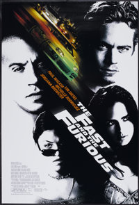 """The Fast and the Furious (Universal, 2001). One Sheet (27"""" X 40"""") DS. Action"""