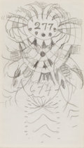 Fine Art - Painting, American:Modern  (1900 1949)  , CHARLES EPHRAIM BURCHFIELD (American, 1893-1967). Sketches(pair). Pencil on paper. 5 x 2-3/4 inches (12.7 x 7.0 cm) and...(Total: 2 Items)