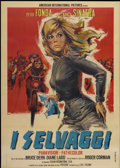 "Movie Posters:Action, The Wild Angels (Italian International Films, 1966). Italian 2 -Folio (39"" X 55""). Action...."