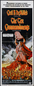"Movie Posters:Historical Drama, The Ten Commandments (Paramount, R-1972). Insert (14"" X 36"").Historical Drama...."