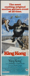 "Movie Posters:Horror, King Kong (Paramount, 1976). Insert (14"" X 36""). Horror...."