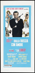 "Movie Posters:James Bond, From Russia with Love (United Artists, R-1970s). Italian Locandina(13"" X 27.5""). James Bond...."