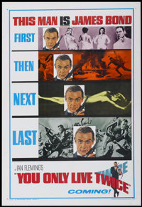 "You Only Live Twice (United Artists, 1967). One Sheet (27"" X 41"") Advance. James Bond"