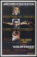 "Movie Posters:James Bond, Goldfinger (United Artists, 1964). One Sheet (27"" X 41""). James Bond...."