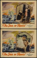 "Movie Posters:War, The Soul of France (Paramount, 1928). Lobby Cards (2) (11"" X 14"").War.... (Total: 2 Items)"