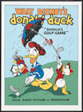"Movie Posters:Animated, Donald's Golf Game (Circle Fine Arts, 1980s). Serigraph (22.5"" X30.5""). Animated.. ..."