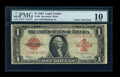 Error Notes:Large Size Errors, Fr. 40 $1 1923 Legal Tender PMG Very Good 10....