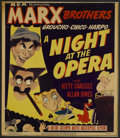 """Movie Posters:Comedy, A Night at the Opera (MGM, R-1948). Window Card (14"""" X 16"""").Comedy...."""