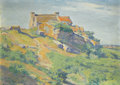 Paintings, WALTER GRIFFIN (American, 1861-1935). Island of Brehat, France, circa 1885. Oil on board. 9-7/8 x 14 inches (25.1 x 35.6...