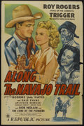 """Movie Posters:Western, Along the Navajo Trail (Republic, 1945). One Sheet (27"""" X 41""""). Western...."""