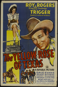 """The Yellow Rose of Texas (Republic, 1944). One Sheet (27"""" X 41""""). Western"""
