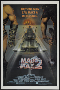"Mad Max 2 (Warner Brothers, 1981). International One Sheet (27"" X 41""). Also known as The Road Warrior. Scienc..."