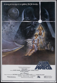 """Star Wars (20th Century Fox, 1977). One Sheet (26"""" X 40"""") Style A Cardstock. Science Fiction"""