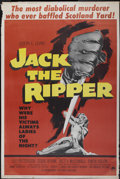 "Movie Posters:Mystery, Jack the Ripper (Paramount, 1960). Poster (40"" X 60""). Mystery...."