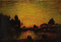 Fine Art - Painting, European:Antique  (Pre 1900), FRENCH SCHOOL (19th Century). Landscape at Sunset. Oil oncanvas. 28 x 40 inches (71.1 x 101.6 cm). Signed lower right: ...