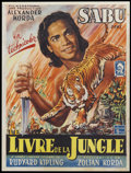 "Movie Posters:Adventure, Jungle Book (United Artists, c. late 1940s). Post-War Belgian (14""X 18.5""). Adventure...."