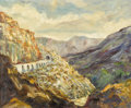 Fine Art - Painting, American:Contemporary   (1950 to present)  , TOLIVER (American, 20th Century). New Mexico Landscape. Oiland rocks on canvas. 20 x 24 inches (50.8 x 61.0 cm). Signed...