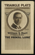 "Movie Posters:Drama, Primal Lure (Triangle, 1916). Herald (5"" X 8""). Drama...."