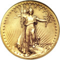 High Relief Double Eagles, 1907 $20 High Relief, Wire Rim MS61 NGC....