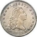 Early Dollars, 1795 $1 Flowing Hair, Two Leaves--Improperly Cleaned--NCS. AUDetails....