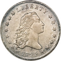 1795 $1 Flowing Hair, Two Leaves--Improperly Cleaned--NCS. AU Details....(PCGS# 39980)