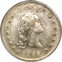 1795 $1 Flowing Hair, Two Leaves--Scratched, Improperly Cleaned--NCS. Unc Details. ...(PCGS# 39985)